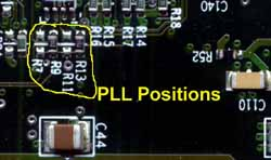 pll positions on G4 Processor